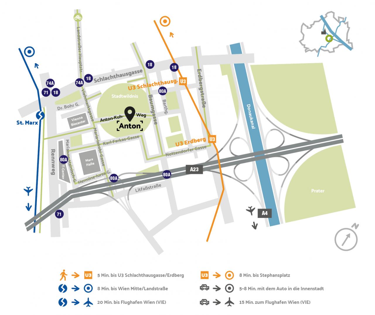 Ideale Verkehrsanbindung<br>& beste Infrastruktur